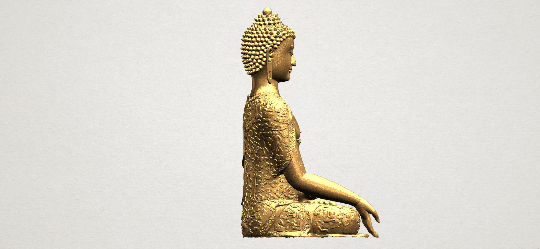 Thai Buddha(i) A07.png Download free STL file Thai Buddha (i) • Model to 3D print, GeorgesNikkei
