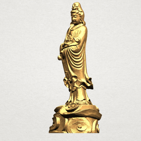 Avalokitesvara Buddha - Standing (iv) A02.png Download free STL file Avalokitesvara Buddha - Standing 04 • 3D print template, GeorgesNikkei