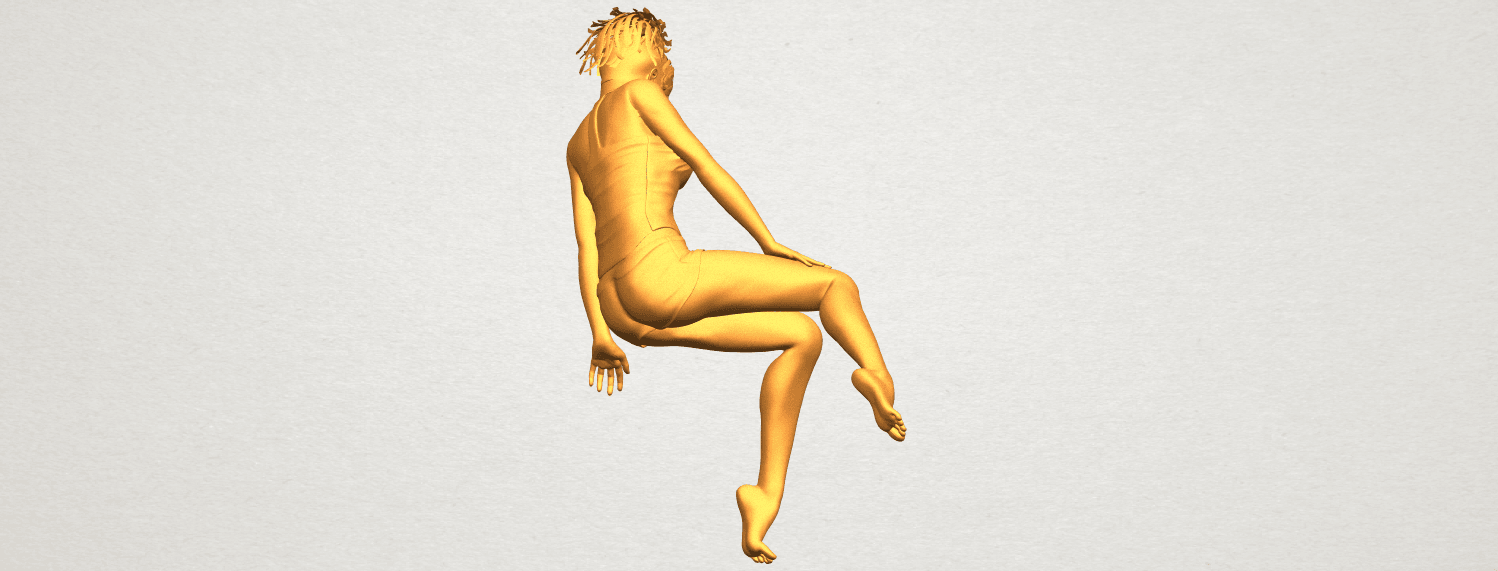 A07.png Download free STL file Naked Girl E04 • Template to 3D print, GeorgesNikkei