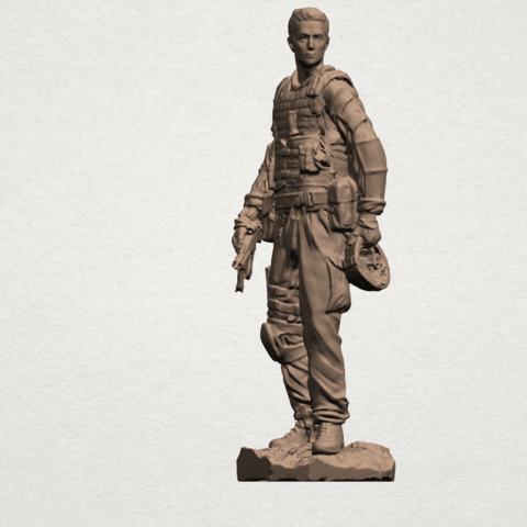 American Soldier A08.png Download free STL file American Soldier • Template to 3D print, GeorgesNikkei