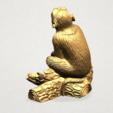 Chinese Horoscope09 - B03.png Télécharger fichier STL gratuit Horoscope Chinois 09 Singe 09 Singe • Objet pour imprimante 3D, GeorgesNikkei