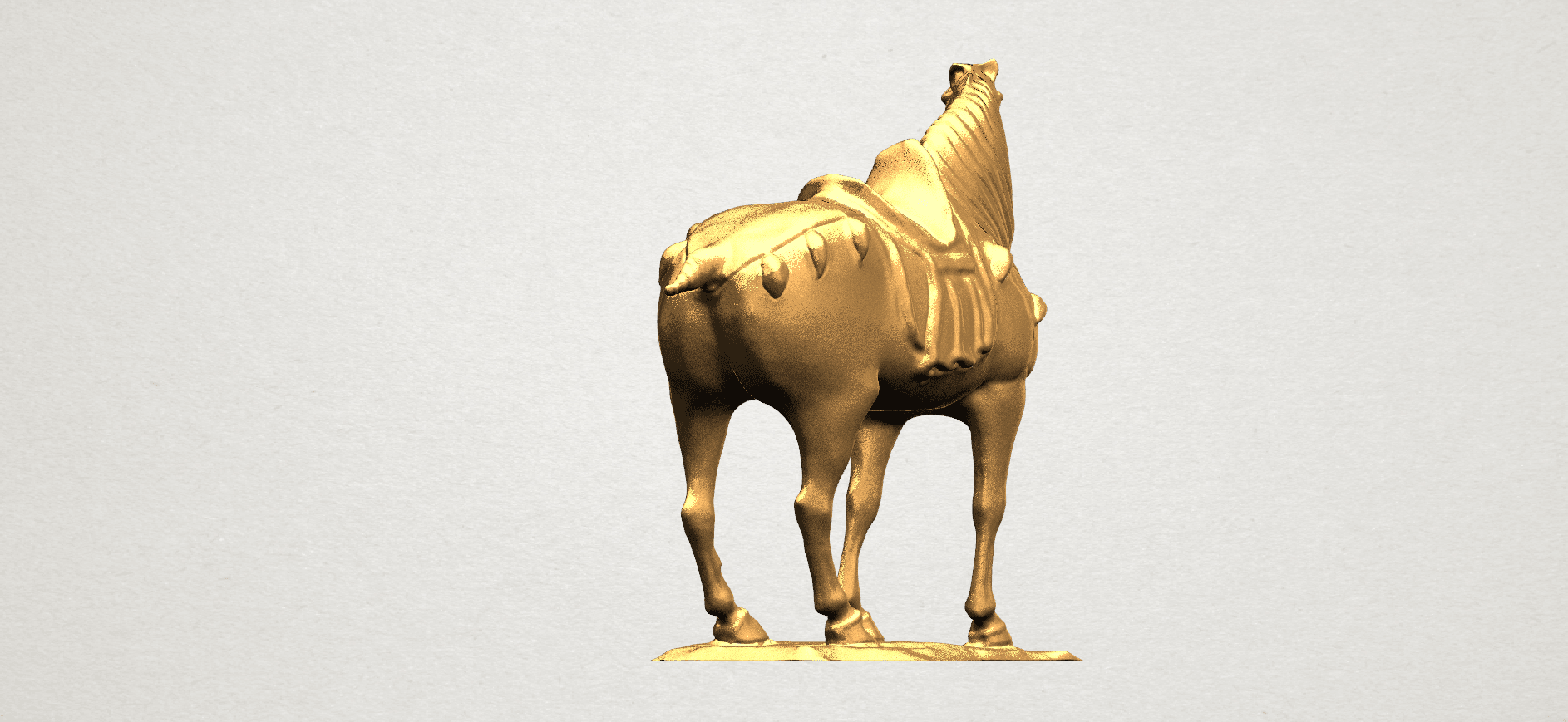 Horse (iv) A04.png Download free STL file Horse 04 • 3D print design, GeorgesNikkei