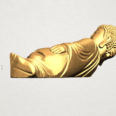 Sleeping Buddha (ii) A04.png Download free STL file Sleeping Buddha 02 • Design to 3D print, GeorgesNikkei