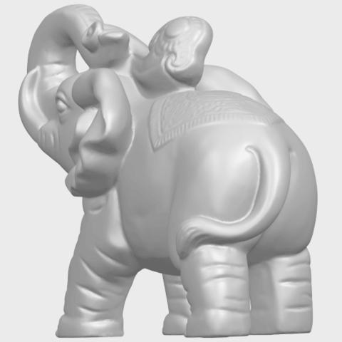 09_Elephant_02_150mmA06.png Télécharger fichier STL gratuit Eléphant 02 • Plan imprimable en 3D, GeorgesNikkei