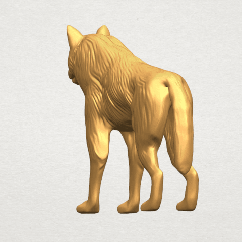 TDA0610 Wolf A03.png Download free STL file Wolf • 3D printable design, GeorgesNikkei