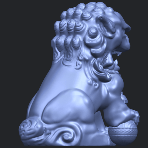 04_TDA0500_Chinese_LionB08.png Download free STL file Chinese Lion • 3D printing object, GeorgesNikkei