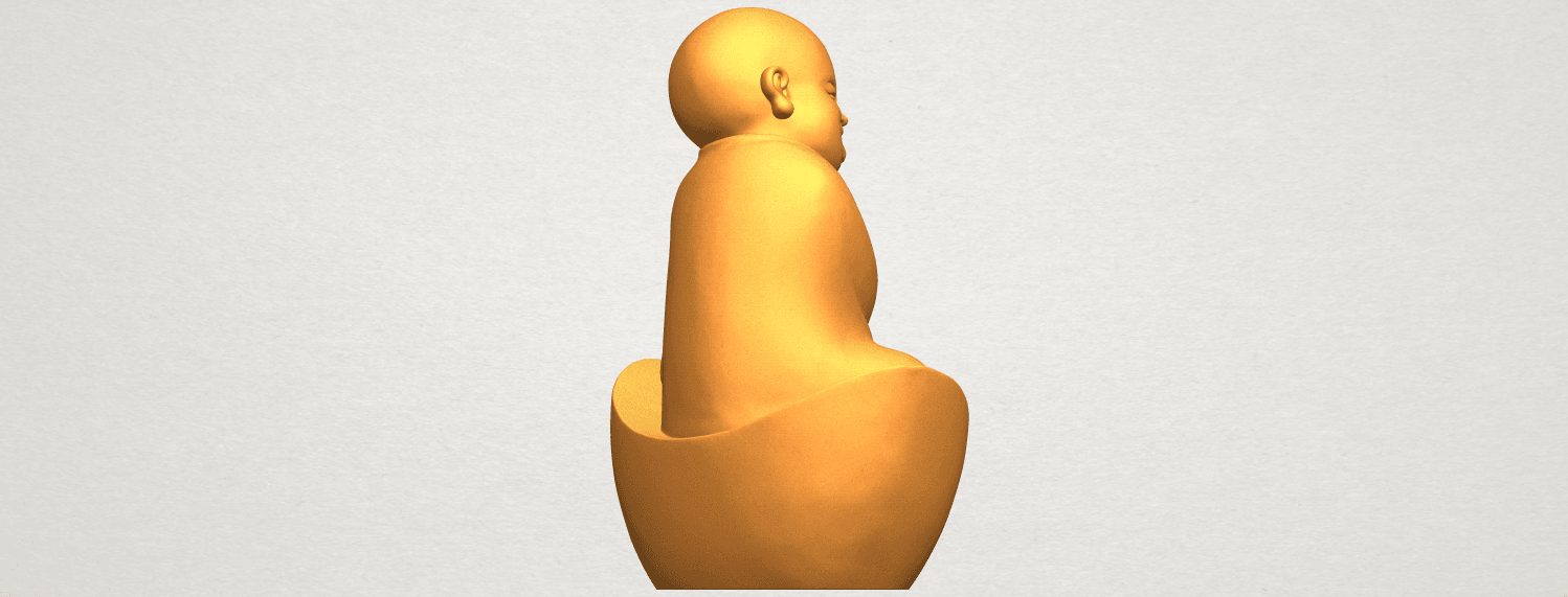A08.png Download free STL file Little Monk 04 • 3D printer template, GeorgesNikkei