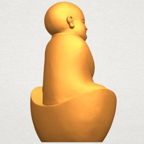 A08.png Télécharger fichier STL gratuit Petit Moine 04 • Modèle imprimable en 3D, GeorgesNikkei