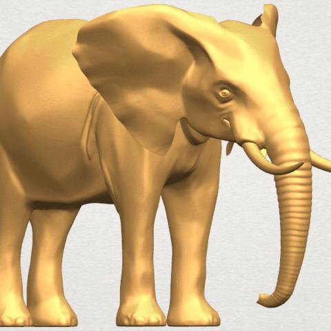 TDA0592 Elephant 07 A06.png Télécharger fichier STL gratuit Eléphant 07 • Objet à imprimer en 3D, GeorgesNikkei