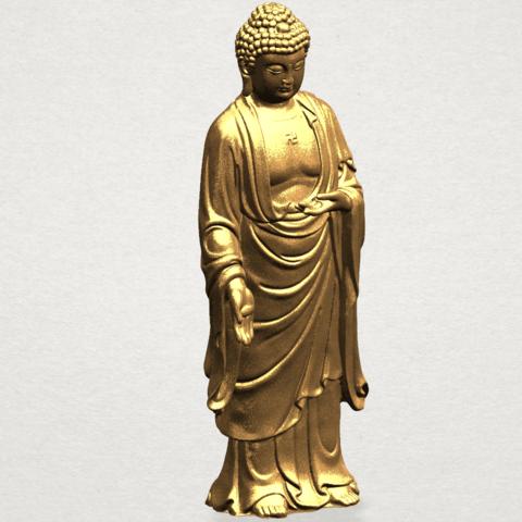Gautama Buddha (stand)-80mm-B06.png Télécharger fichier STL gratuit Gautama Bouddha - Debout 01 • Plan pour impression 3D, GeorgesNikkei