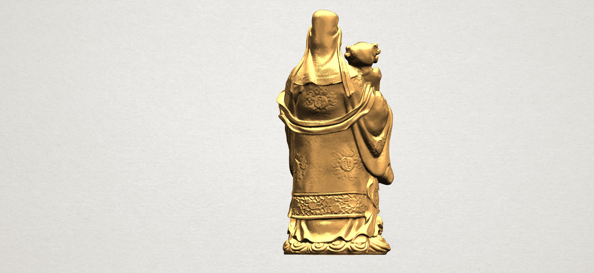 Fook (Fook Look Sao) 80mm - B04.png Download free STL file Fook (Fook Look Sao) • 3D printer template, GeorgesNikkei