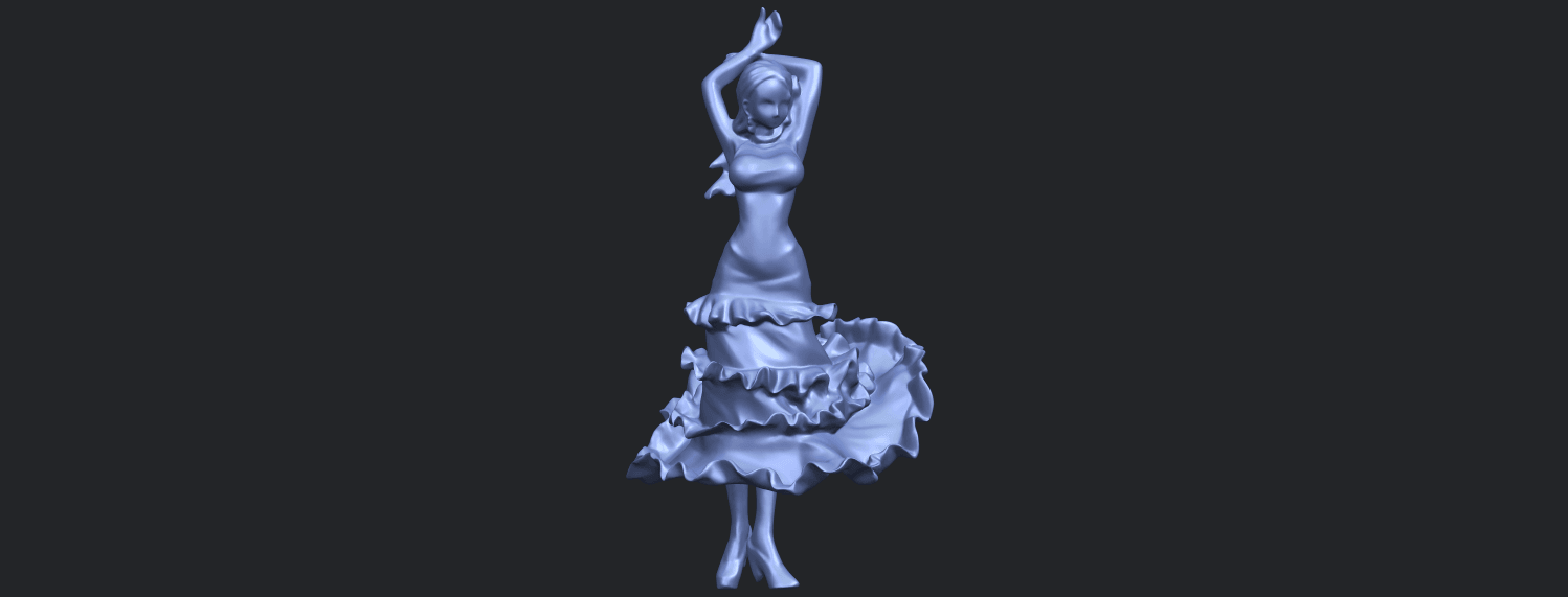 23_Girl_with_Dress_80mm-B04.png Download free STL file Girl with Dress • Object to 3D print, GeorgesNikkei