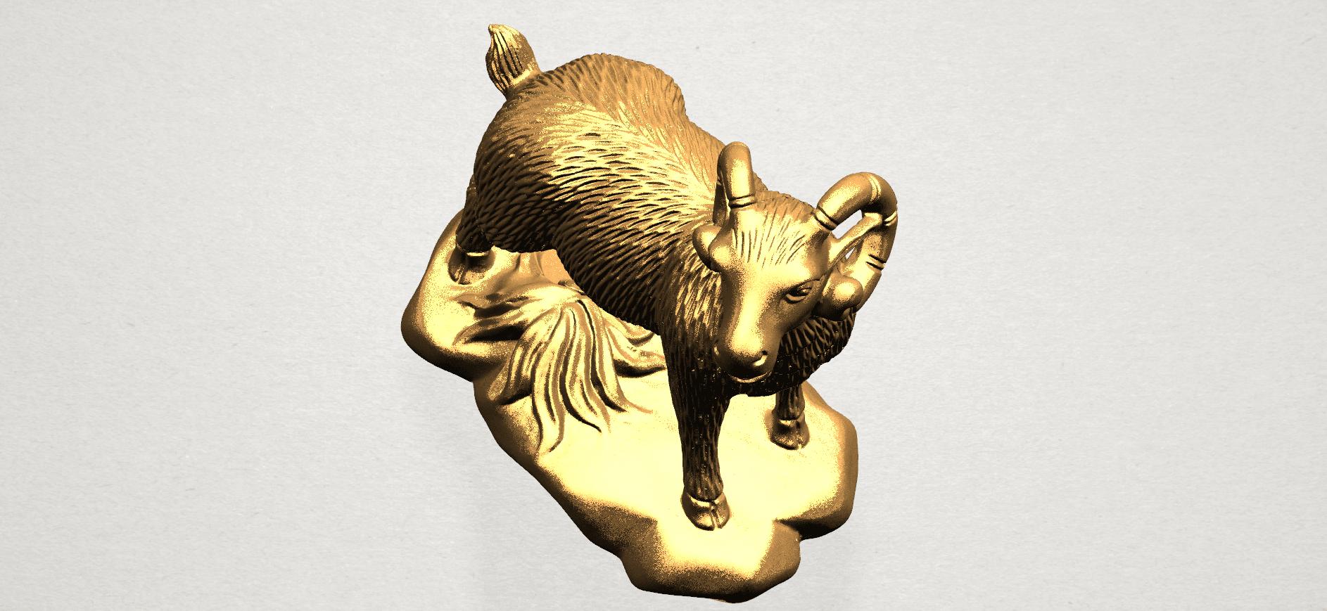 Chinese Horoscope08-B04.png Télécharger fichier STL gratuit Horoscope Chinois 08 Chèvre 08 Chèvre • Design pour imprimante 3D, GeorgesNikkei