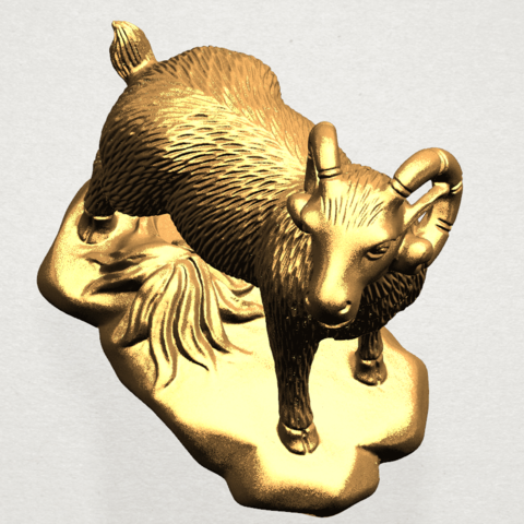 Chinese Horoscope08-B04.png Download free STL file Chinese Horoscope 08 Goat • Model to 3D print, GeorgesNikkei