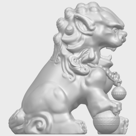 04_TDA0500_Chinese_LionA09.png Download free STL file Chinese Lion • 3D printing object, GeorgesNikkei