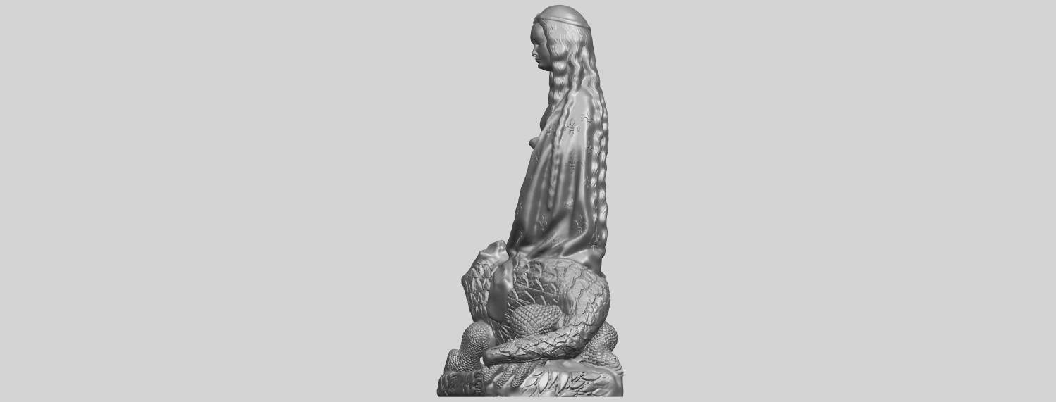 St Margaret 88mmA03.png Download free STL file Saint Margaret  • Template to 3D print, GeorgesNikkei
