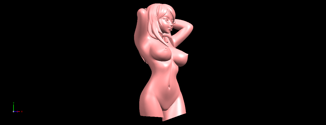 02.png Download free STL file Naked Girl 01- half body • 3D printing template, GeorgesNikkei