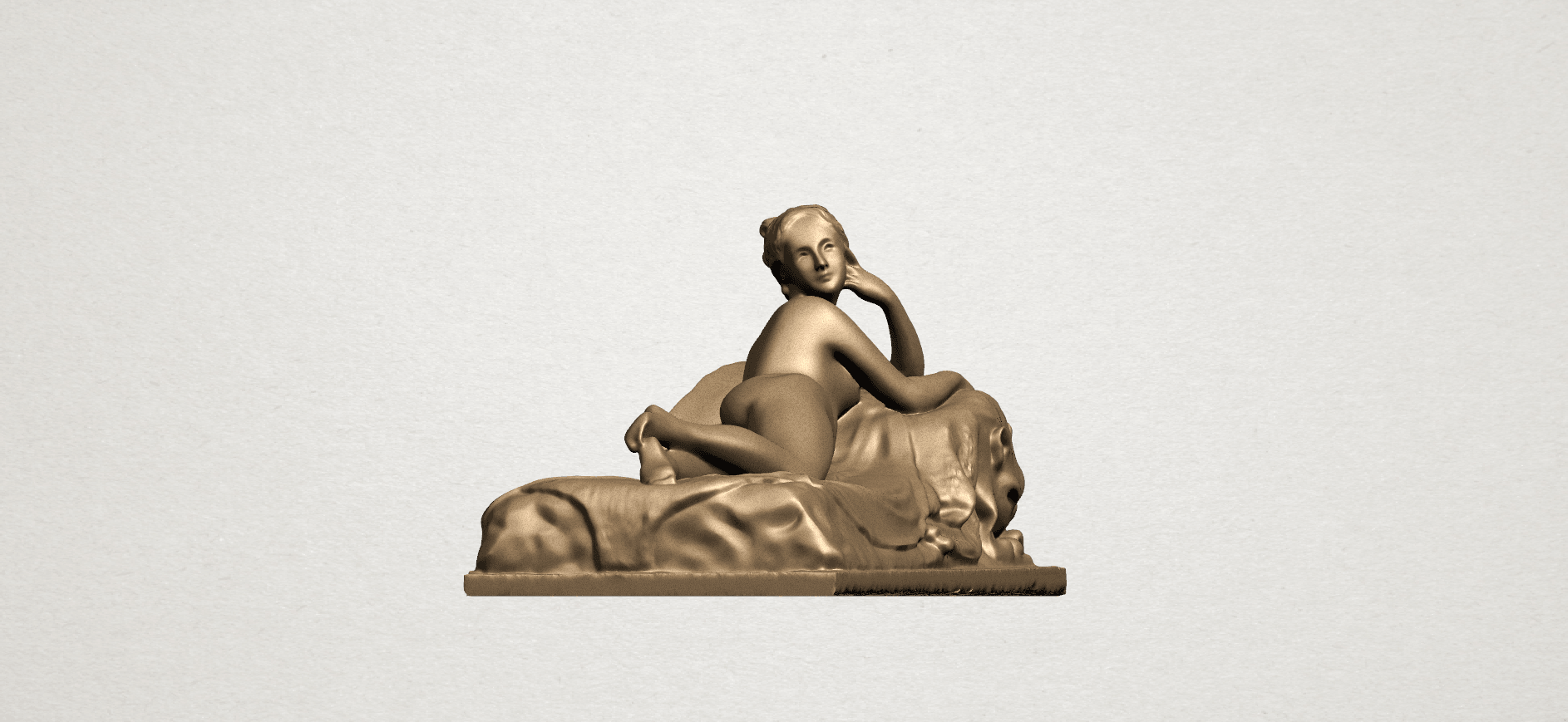 Lying on Bed (i) A05.png Download free STL file Naked Girl - Lying on Bed 01 • 3D printable object, GeorgesNikkei
