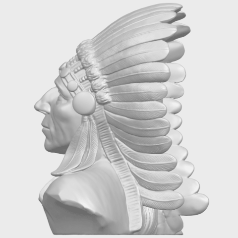 09_TDA0489_Red_Indian_03_BustA04.png Download free STL file Red Indian 03 • 3D printer model, GeorgesNikkei