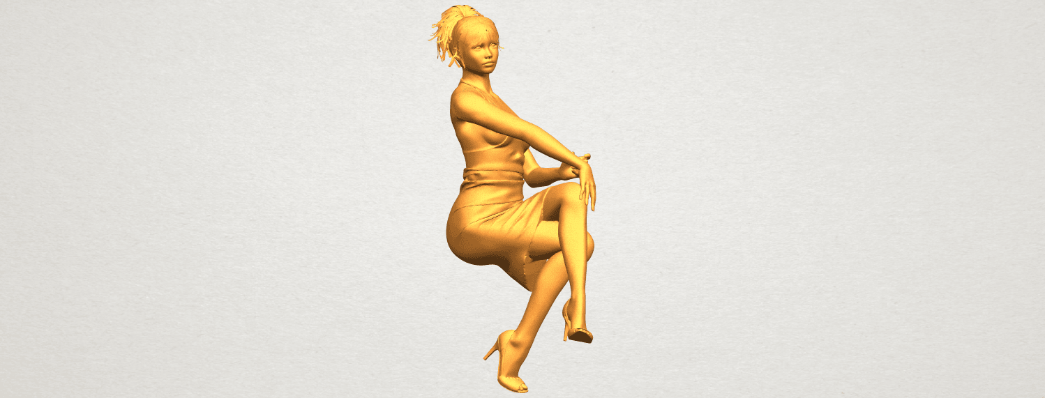 A03.png Download free STL file Naked Girl H04 • 3D printing object, GeorgesNikkei