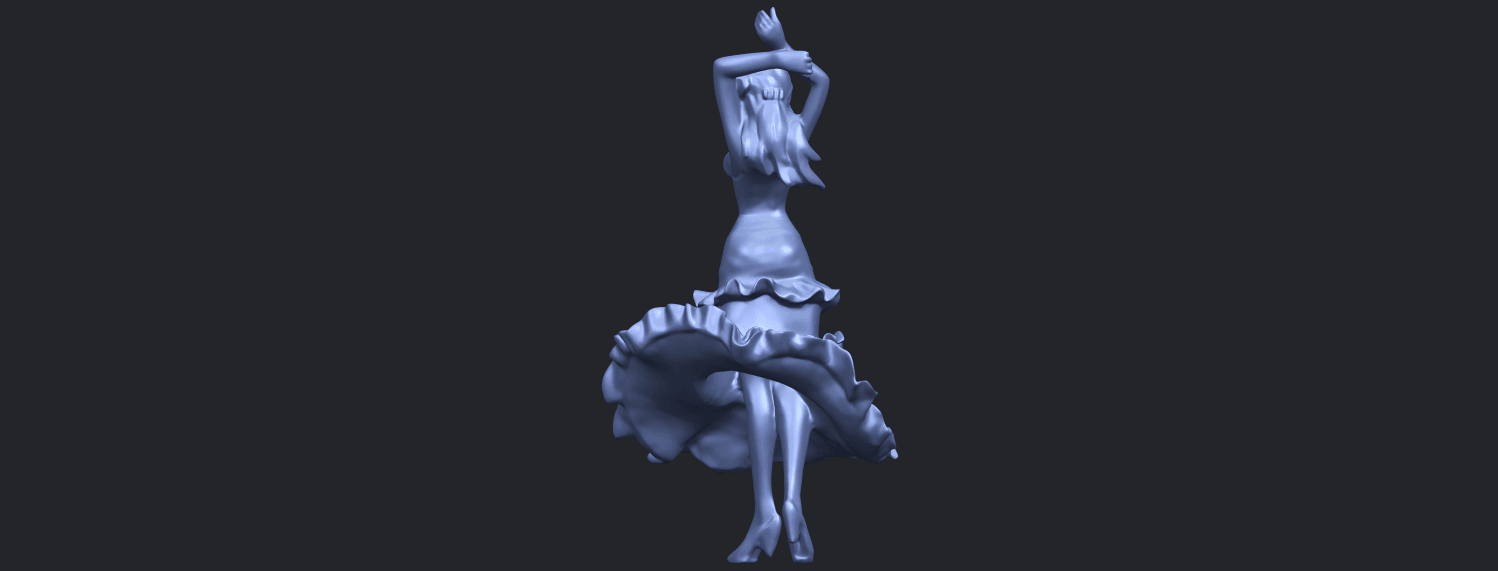 23_Girl_with_Dress_80mm-B09.png Download free STL file Girl with Dress • Object to 3D print, GeorgesNikkei