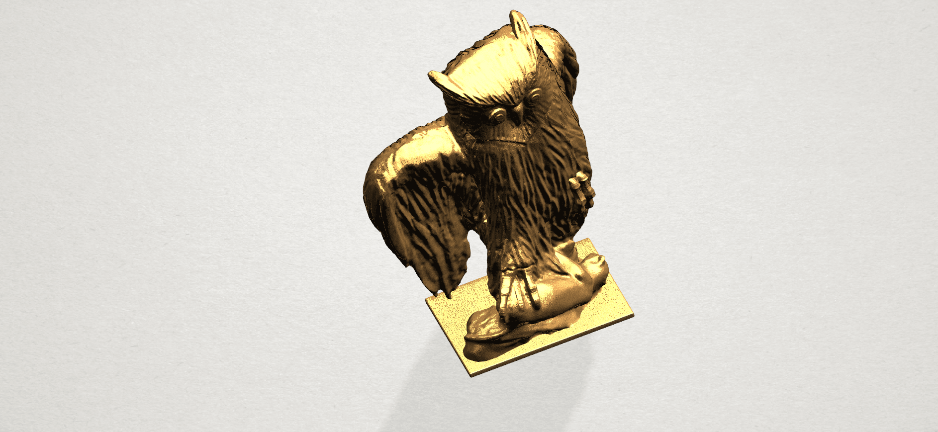 Owl (ii) A08.png Download free STL file Owl 02 • 3D printer object, GeorgesNikkei