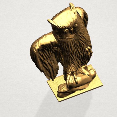 Owl (ii) A08.png Télécharger fichier STL gratuit Hibou 02 • Plan pour imprimante 3D, GeorgesNikkei