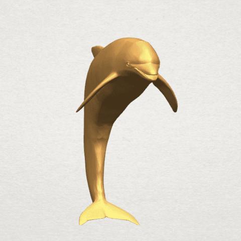 TDA0613 Dolphin 03 A06.png Télécharger fichier STL gratuit Dauphin 03 • Objet pour impression 3D, GeorgesNikkei