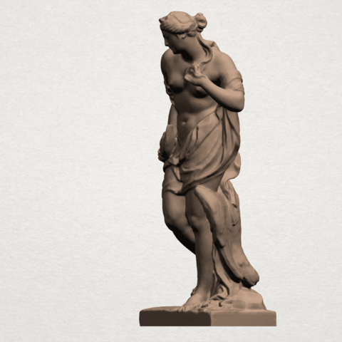 Naked Girl with Goose A02.png Download free STL file Naked Girl with Goose • 3D print template, GeorgesNikkei