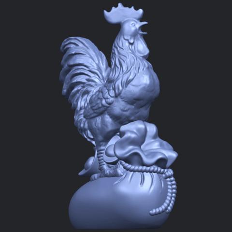 08_TDA0321_CockB08.png Télécharger fichier STL gratuit Coq 01 • Design pour impression 3D, GeorgesNikkei