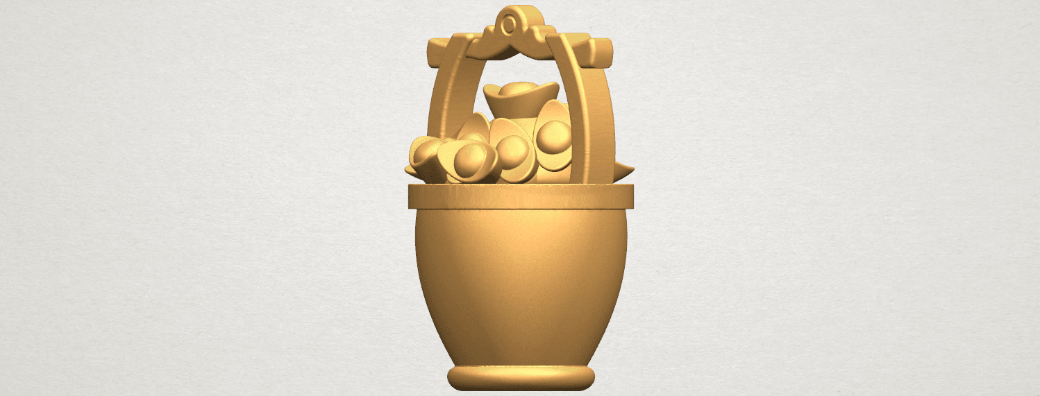 TDA0502 Gold in Bucket A06.png Download free STL file Gold in Bucket • 3D print object, GeorgesNikkei