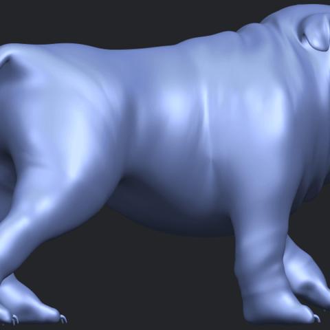14_TDA0520_Bull_Dog_01B08.png Télécharger fichier STL gratuit Chien de taureau 01 • Plan pour impression 3D, GeorgesNikkei