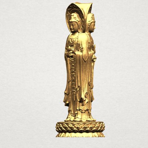 Avalokitesvara Buddha (with Lotus Leave) (i) A02.png Download free STL file Avalokitesvara Buddha (with Lotus Leave) 01 • 3D printable model, GeorgesNikkei