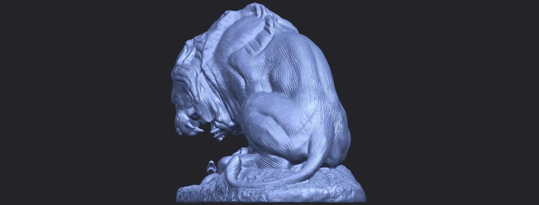 16_Lion_(iii)_with_snake_60mm-B03.png Télécharger fichier STL gratuit Lion 03 - avec serpent • Modèle imprimable en 3D, GeorgesNikkei