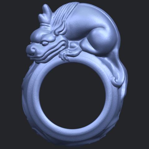 07_TDA0504_Pi_Xiu_RingB01.png Télécharger fichier STL gratuit Bague Pi Xiu Ring • Modèle à imprimer en 3D, GeorgesNikkei