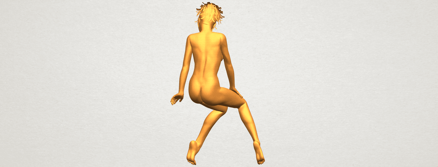A07.png Download free STL file Naked Girl E01 • 3D printer template, GeorgesNikkei