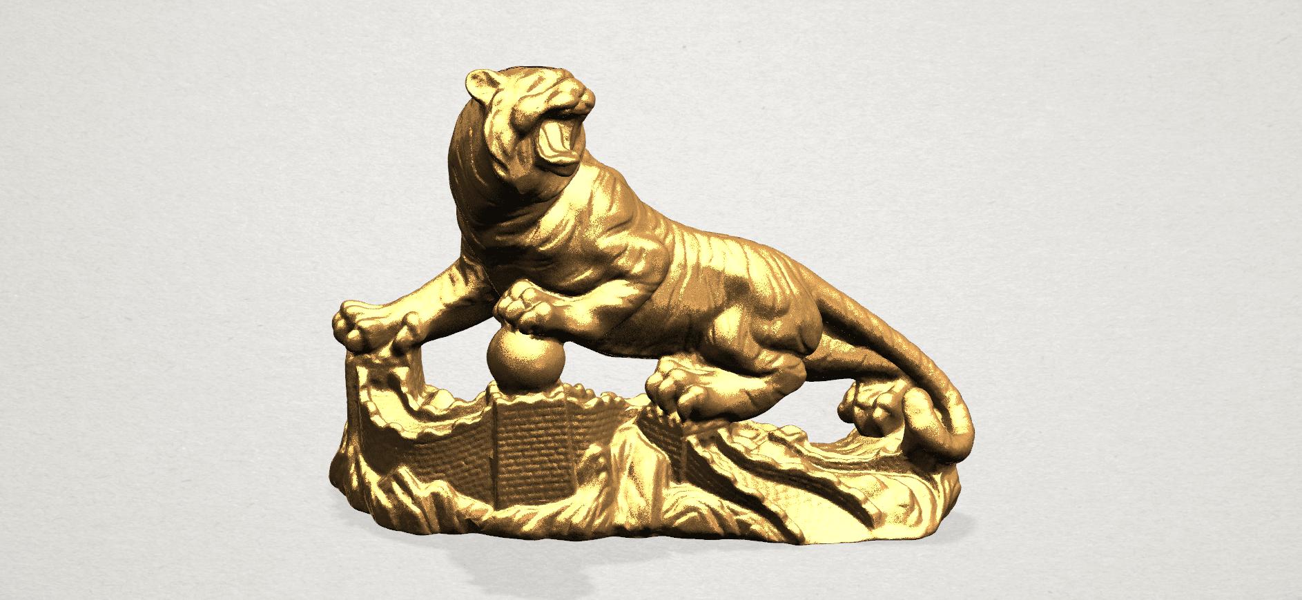 Siberian Tiger - A01.png Télécharger fichier STL gratuit Tigre de Sibérie • Objet imprimable en 3D, GeorgesNikkei
