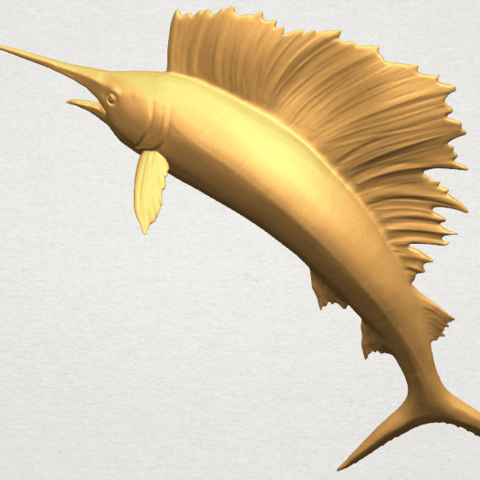 TDA0572 Swordfish 02 A07.png Télécharger fichier STL gratuit Espadon 02 • Objet pour impression 3D, GeorgesNikkei