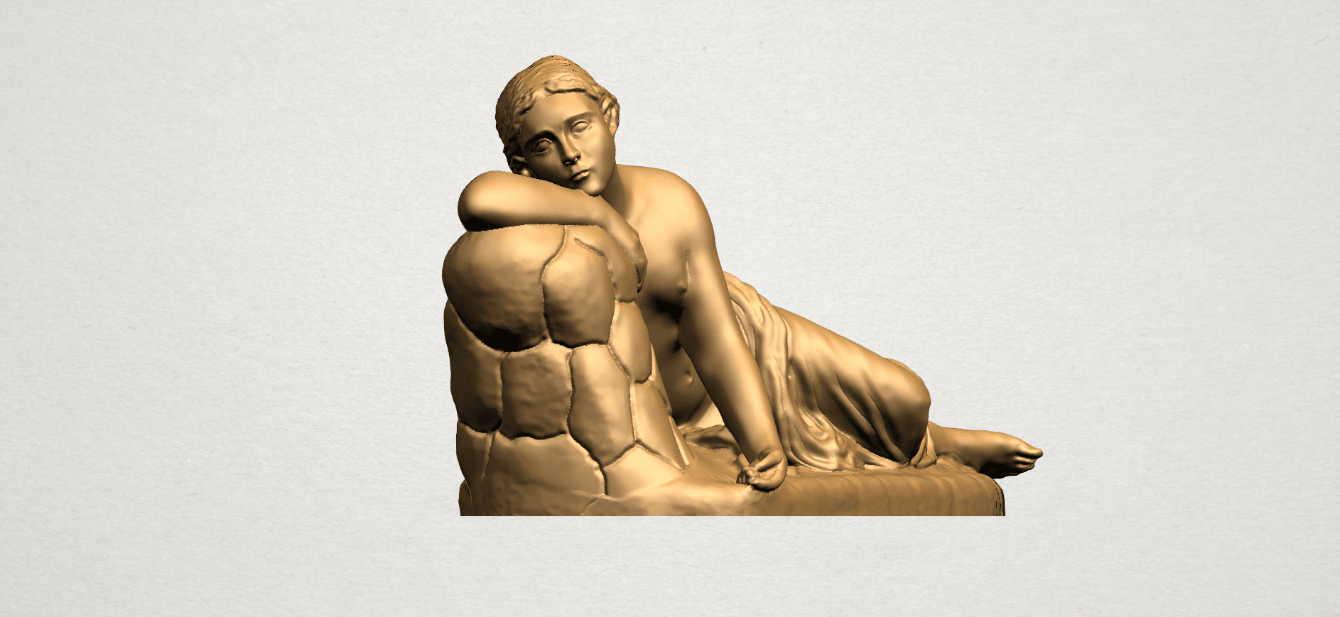 Naked Girl - Lying on Side - A10.png Download free STL file Naked Girl - Lying on Side • 3D printer template, GeorgesNikkei