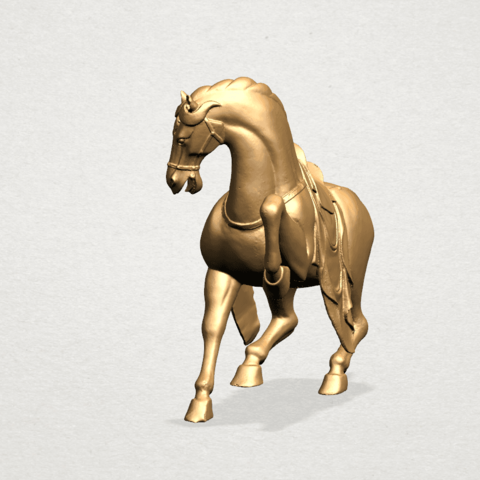 Horse III - A04.png Télécharger fichier STL gratuit Cheval 03 • Design imprimable en 3D, GeorgesNikkei