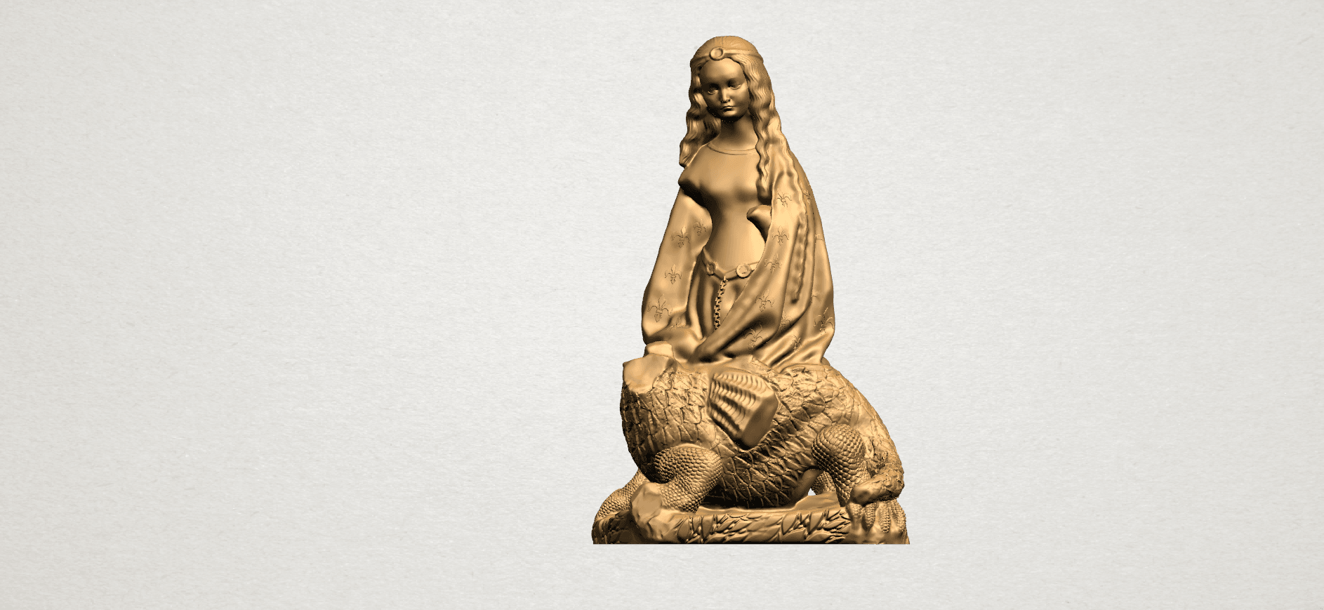 Saint Margaret A01.png Download free STL file Saint Margaret  • Template to 3D print, GeorgesNikkei