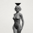 Naked girl-vase-A07.png Download free STL file Naked Girl with Vase on Top (i) • 3D print template, GeorgesNikkei