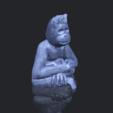 09_TDA0606_ChimpanzeeB00-1.png Télécharger fichier STL gratuit Chimpanzé • Design imprimable en 3D, GeorgesNikkei