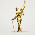 Statue of Freddie Mercury A04.png Download free STL file Statue of Freddie Mercury • 3D printable template, GeorgesNikkei