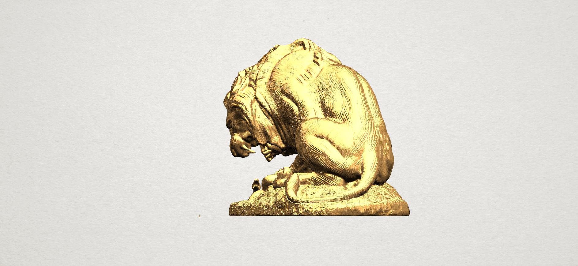 Lion (iii) - with snake A02.png Télécharger fichier STL gratuit Lion 03 - avec serpent • Modèle imprimable en 3D, GeorgesNikkei