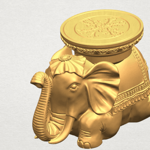TDA0501 Elephant Table A08.png Download free STL file Elephant Table • 3D printing object, GeorgesNikkei