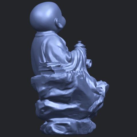 17_TDA0558_Little_Monk_Drink_TeaB09.png Télécharger fichier STL gratuit Boire du thé Little Monk Drink Tea • Design à imprimer en 3D, GeorgesNikkei