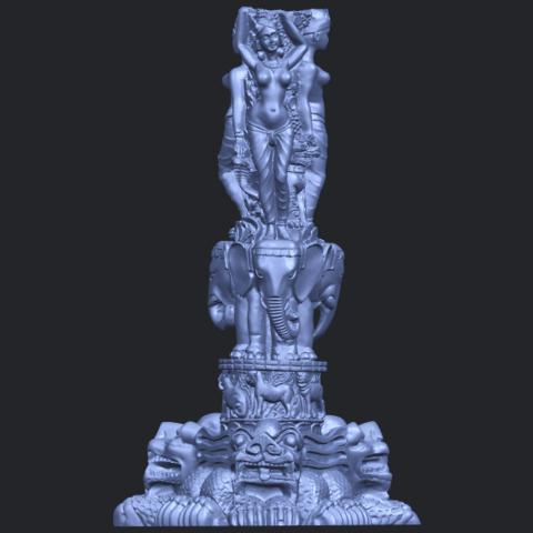 09_Thai_Elephant_Tower_80mm_-_A01B01.png Télécharger fichier STL gratuit Tour de l'éléphant thaïlandais • Modèle pour impression 3D, GeorgesNikkei