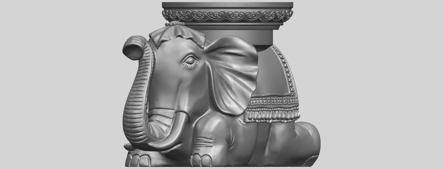 11_TDA0501_Elephant_TableA01.png Download free STL file Elephant Table • 3D printing object, GeorgesNikkei