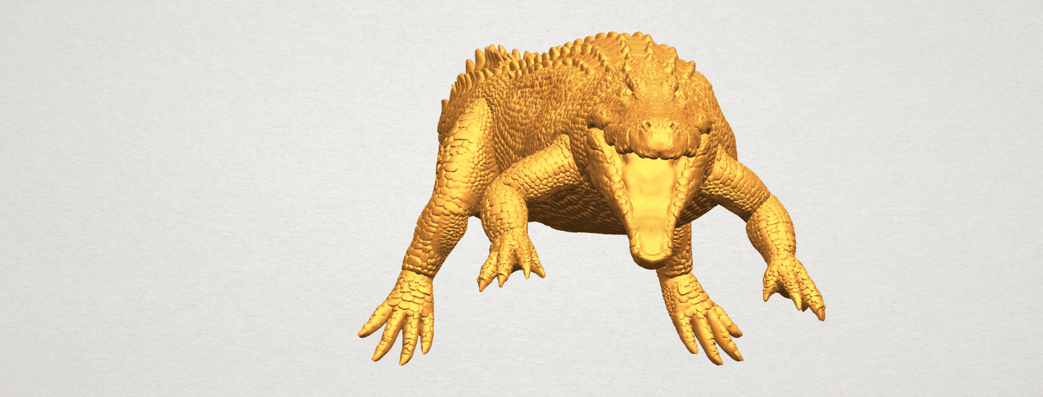 A03.png Download free STL file Alligator 01 • 3D printer object, GeorgesNikkei